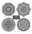 Set of ethnic mandala meditation Isolated on the vector image
