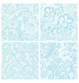 set of lacy patterns vector image
