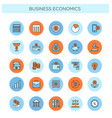 set of line icons of business vector image
