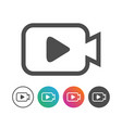 simple camera video icon symbol design set vector image