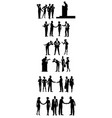 six groups of business people vector image vector image