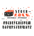 Stock set of sanserif font vector image vector image