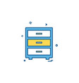 study table icon design vector image