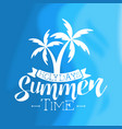 summer time holidays vintage template design vector image vector image
