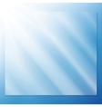 transparent glass on a blue background vector image