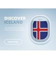 traveling plane flat design banner vector image