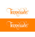 typography of the usa tennessee states vector image vector image