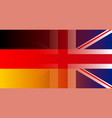 uk and germany flag in gradient superimposition vector image vector image