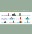 western and northern europe countries landmarks vector image
