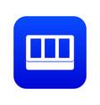 white window frame icon digital blue vector image