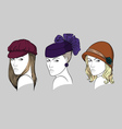 Women with hats vector image vector image