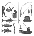 Fishing Decorative Graphic Icons Set vector image