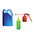 Different Types of Engine Oil Packaging vector image