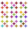 multicolored seamless pattern over white vector image