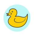 yellow minimalistic duck icon vector image
