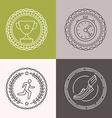 linear runnig badges vector image