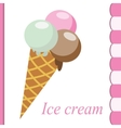 Ice cream image vector image