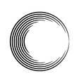 abstract round shape vector image vector image