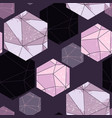 abstract seamless pattern with crystals vector image