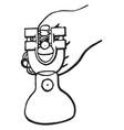 adjustable gage vintage vector image vector image