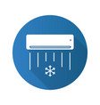 air conditioner flat design long shadow glyph icon