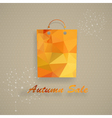 Autumn sale shopping bag vector image vector image