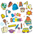 back to school doodle clip art vector image