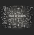 big set of school item vector image