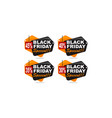 black friday discount template set vector image