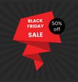 Black friday sale banner on black background
