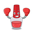 boxing nail polish character cartoon vector image