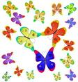 butterflies different colors vector image vector image