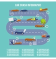 Car crash infographics vector image vector image
