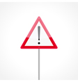 Caution traffic sign vector image vector image