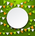 Clean Card with Party Bunting Pennants and Clovers vector image vector image