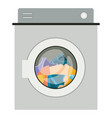 colorful silhouette of washing machine with vector image vector image