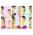 cool avatars different brochure nations people vector image