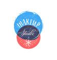cosmetics logo handwritten lettering makeup vector image vector image