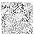 five steps to a clean garage workshop Word Cloud vector image vector image
