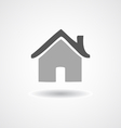 Flat icon Home on shadow isolated vector image vector image