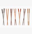 food chopsticks asian bamboo sushi sticks for vector image vector image