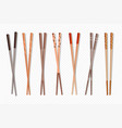 food chopsticks asian bamboo sushi sticks vector image