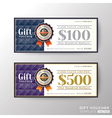 gift certificate voucher coupon template vector image