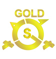 gold vector image vector image