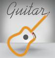 Guitar PENCIL vector image vector image