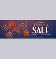 hanging christmas balls decoration sale banner vector image vector image