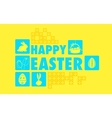 Happy Easter Collage Background vector image