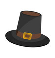 hat icon cartoon for thanksgiving day vector image