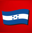honduran flag icon vector image vector image