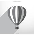 hot air balloon web flat icon vector image